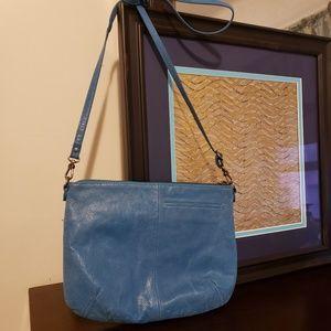 The Sak small hobo crossbody light teal purse
